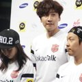 Song Ji Hyo, Lee Kwang Soo dan Haha di Jumpa Pers Asian Dream Cup 2014