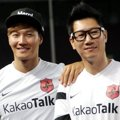 Kim Jong Kook dan Ji Suk Jin di Jumpa Pers Asian Dream Cup 2014