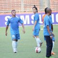 Firman Utina di Sesi Latihan Tim Indonesia All Star