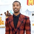 Michael B. Jordan di Red Carpet MTV Movie Awards 2015