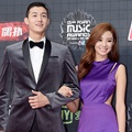 Lee Ki Woo dan Stephanie Lee di Red Carpet MAMA 2015