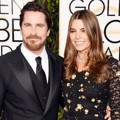 Christian Bale dan Sibi Bale di Red Carpet Golden Globes Awards 2016