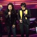 Ipang dan Armand Maulana di HUT Global TV 'Amazing 14'