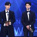 Jinyoung B1A4 dan Kwak Dong Yeon di KBS Entertainment Awards 2016