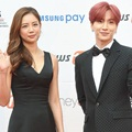Lee Tae Im dan Leeteuk Super Junior di Red Carpet Asia Artist Awards 2017