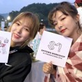 Wendy dan Seulgi Red Velvet di SMTOWN Workshop Pyeongchang 2018.