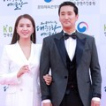 Lee Ji Ae dan Shin Hyun Joon di Red Carpet Korean Popular Culture And Art Awards 2018